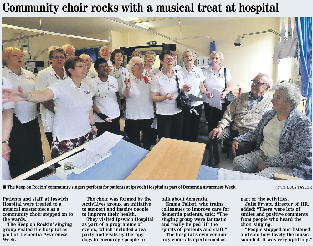 Keep On Rockin' at Ipswich Hospital