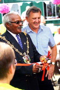 mayor of ipswich hamil clarke with roger osborne
