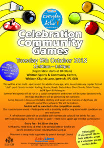 ActivLives Celebration Community Games 2018 @ Whitton Sports & Community Centre | United Kingdom