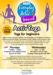 CLOSED UNTIL FURTHER NOTICE - ActivYoga for Beginners/Improvers @ All Hallows Church Hall | England | United Kingdom