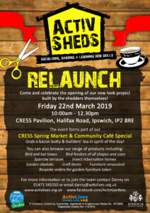 CRESS Community Market + ActivSheds New Look Launch! @ CRESS Pavilion | England | United Kingdom