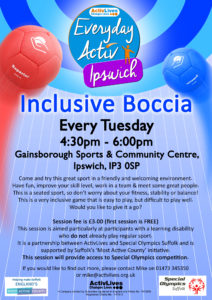 Inclusive Boccia - Gainsborough Sports & Community Centre @ Gainsborough Sports & Community Centre | England | United Kingdom