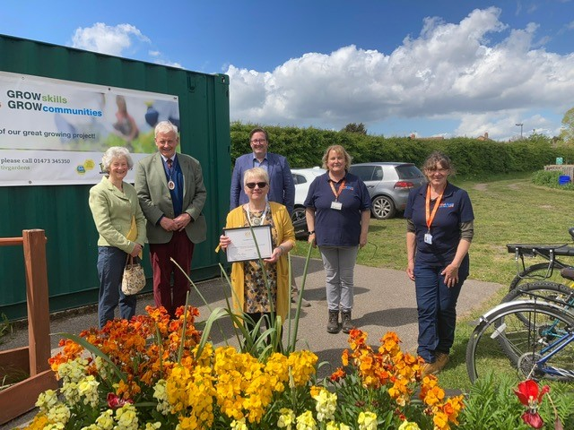 High Sheriff of Suffolk visits the People's Community Garden